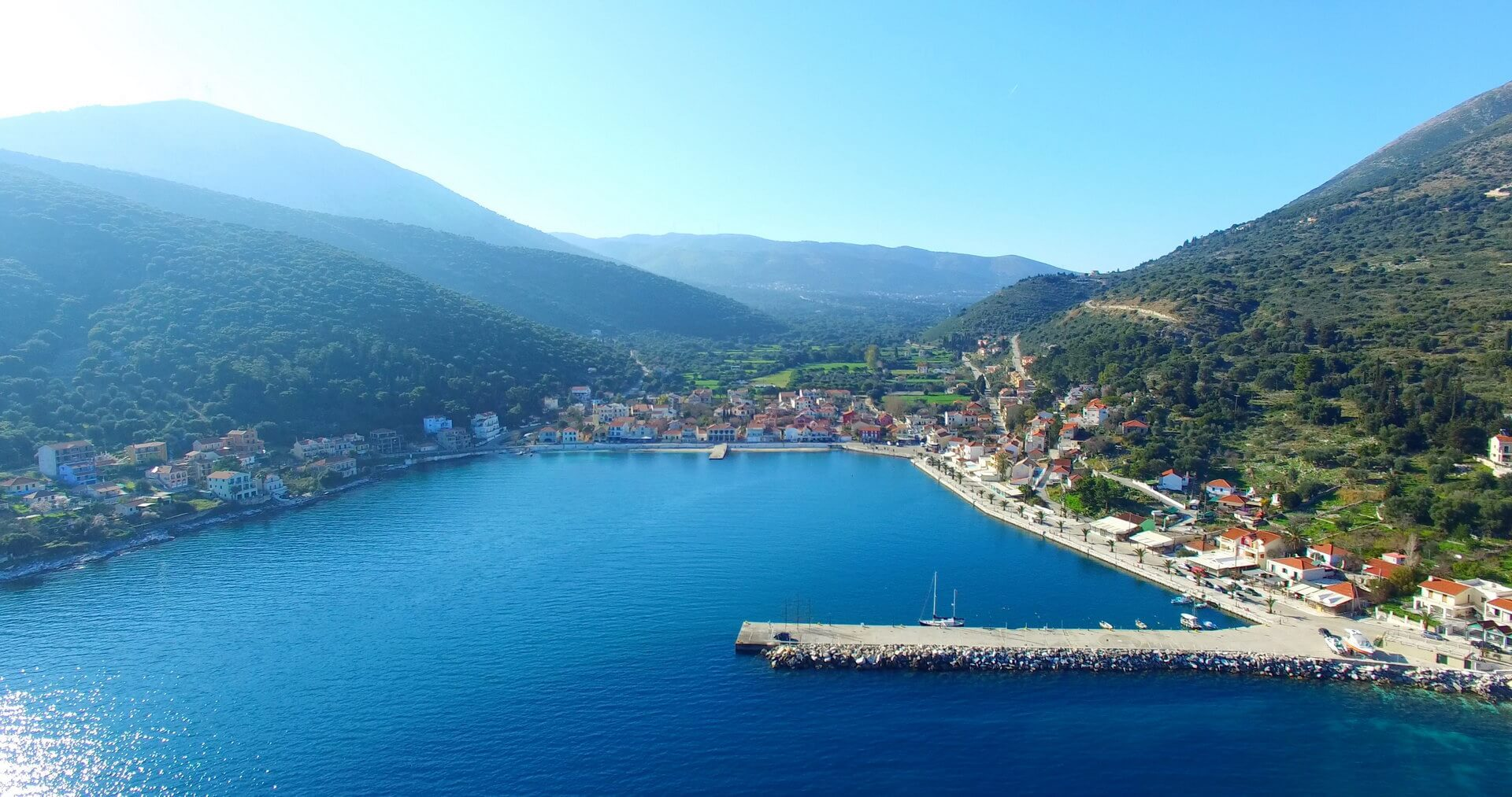 Town of Agia Eyfimia at Kefalonia