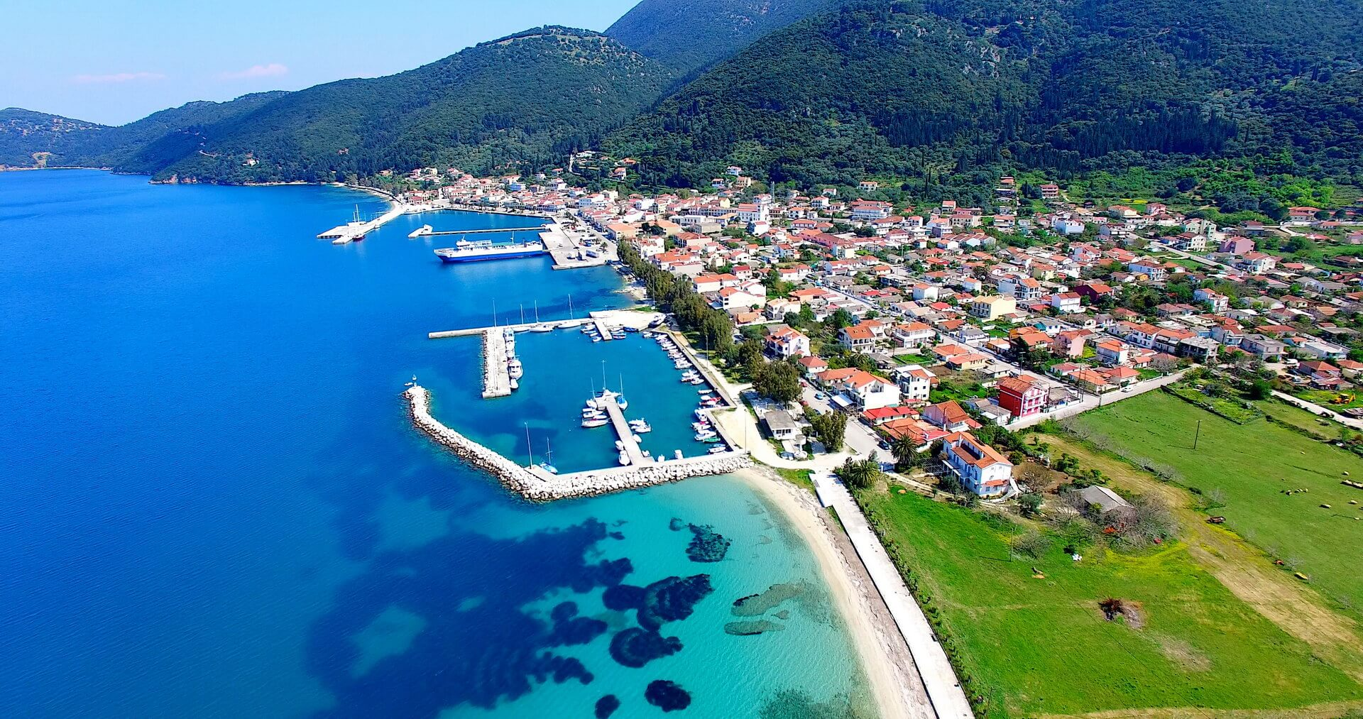Port of Sami town at Kefalonia